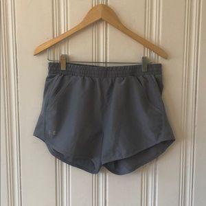 Under Armour gray running shorts
